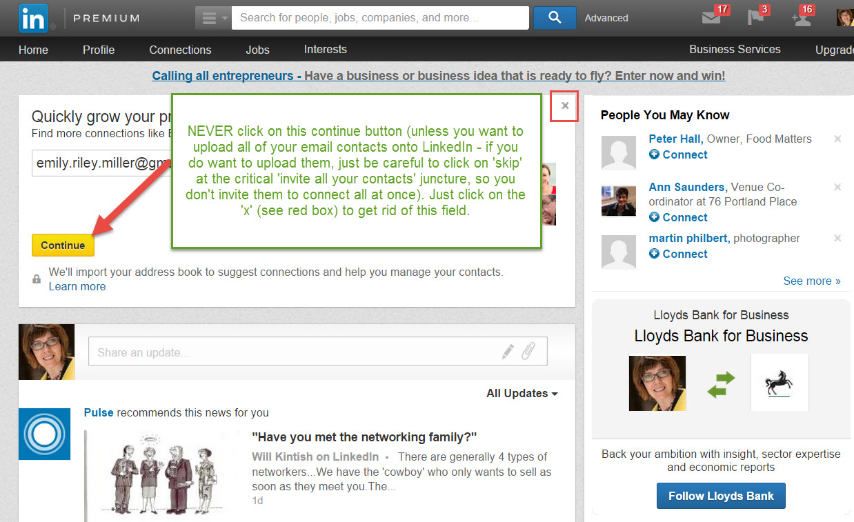 A common mistake on LinkedIn