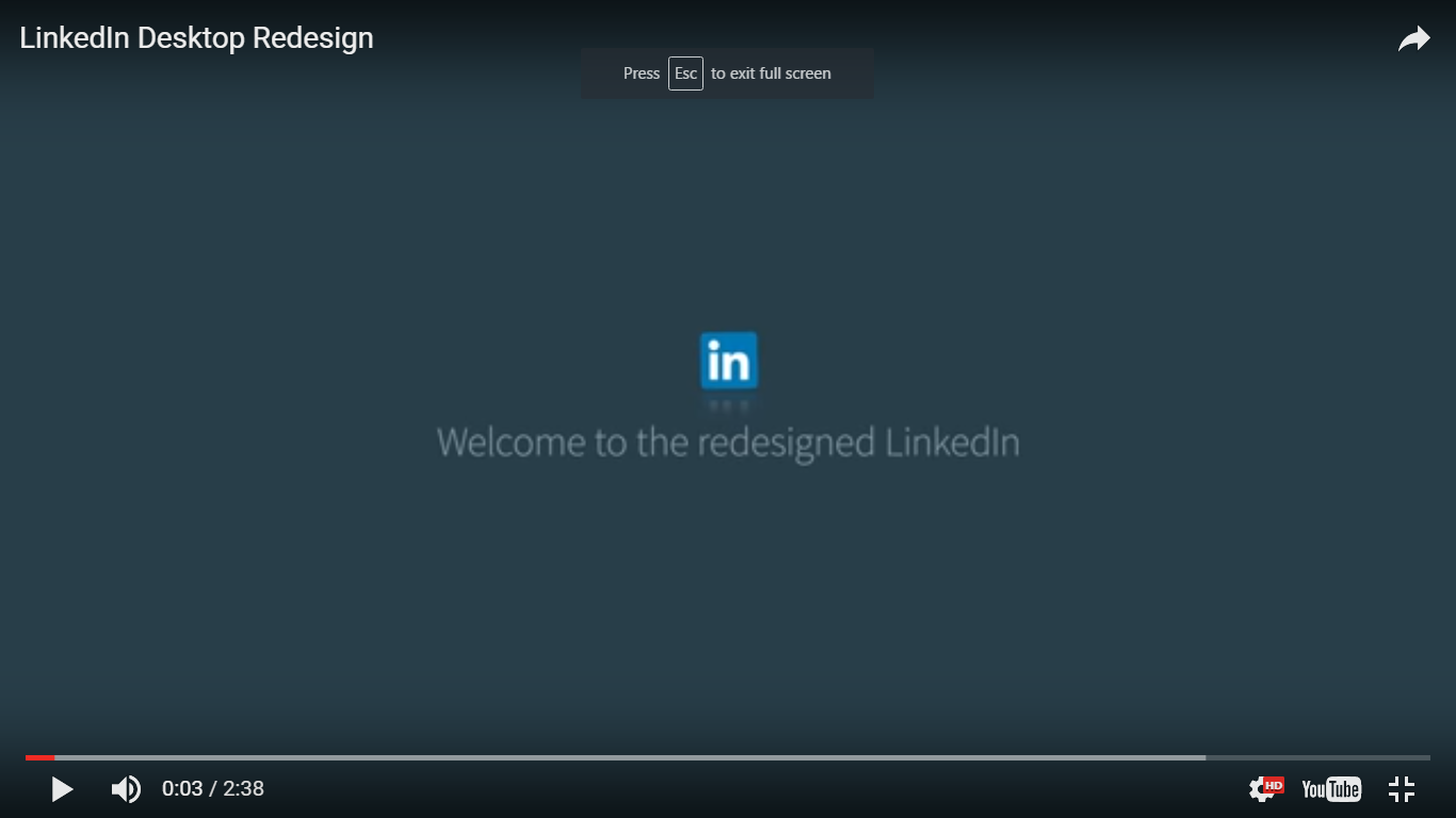 linkedin redesign page